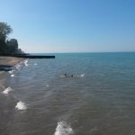 Water of Lake Huron near Sarnia, Ontario