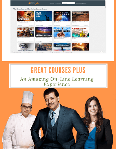 Great Courses Plus Review: An Amazing On-Line Learning Experience - Great Courses Plus is an amazing on-line learning tool packed with courses in science and a slew of other interesting topics. The lecturers are all experts in their field and extremely dynamic speakers. No tests or assignments required to learn something new at home!